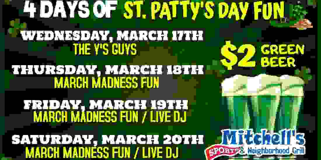 4 Days of St Patty's Day Fun!! Event Image